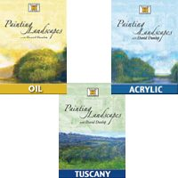 Painting Landscapes with David Dunlop – 3 DVDs (Oil, Acrylic and Tuscany) (Reg. Price $99.95)
