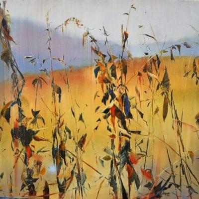 Meadow Leaves Dance Oil on copper, 32x36  (2015)