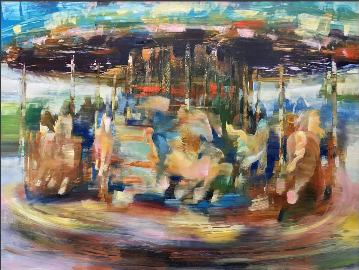 Carousel, Abstract from NYC Bryant Park  (2017)Oil on Dibond, 36x48