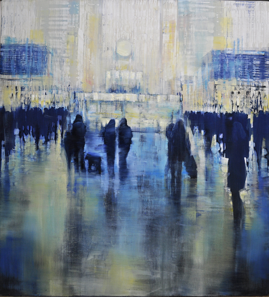 NYC Grand Central Station - Radiant Motion, oil on canvas, 44x40 May 2018