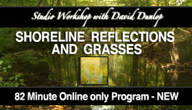 New ONLINE Studio Workshop – Shoreline Reflections and Grasses