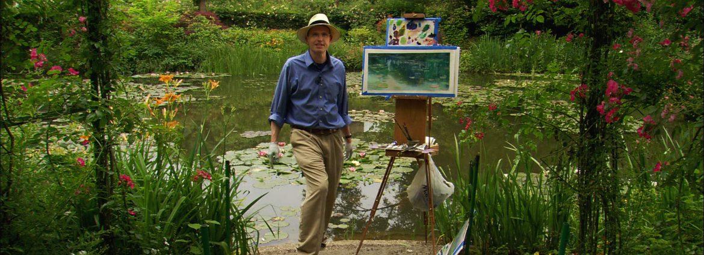 David Dunlop Monet's Waterlily Garden Smiling