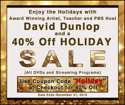 40% Off David Dunlop Painting Programs – Enjoy the Holidays!